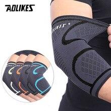 AOLIKES 1 шт. налокотник эластичный спортивный для спортивного зала защитная накладка на локоть впитывает пот Спорт Баскетбол рука рукав Налокотник