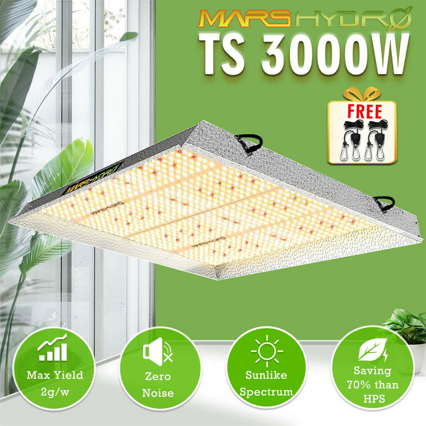 Newest Mars Hydro TS 3000W LED Grow Light Full Spectrum Veg Flower For All Stage Plant