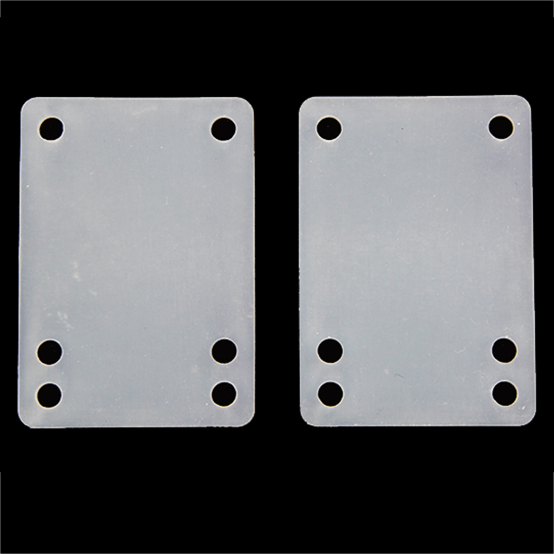 2pcs Skateboard Riser Pads 3mm Bridge-Gasket White Skate Shock Pad Silicone Longboard Truck Pads Skateboard Parts Accessories