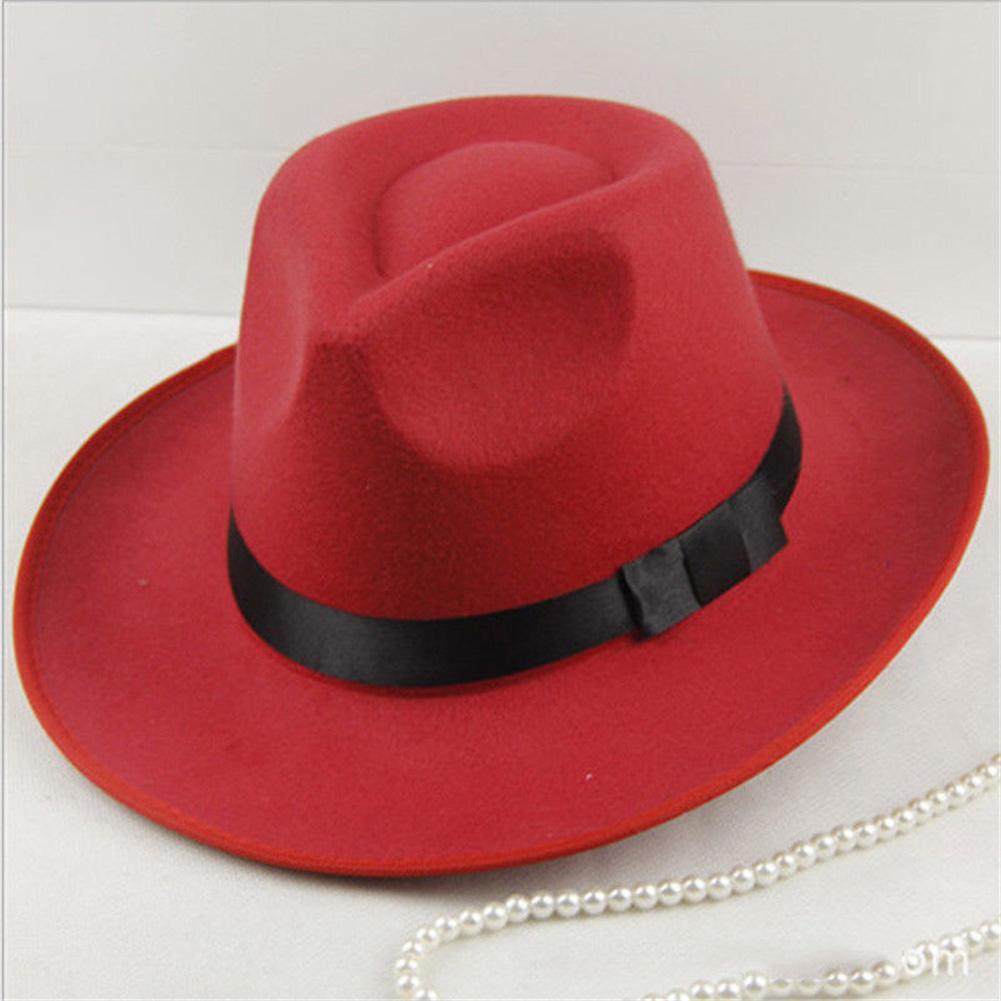 2019 Hat Men Women Imitation Woolen Winter Women Felt Hats Men Fashion Black Top  Hat Fedoras Sun Visor Men Women Hard Felt Hat