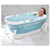 Baby Folding Bathtub Children's Multifunctional Bathtub Large Household Adult Bathtub Children's Tub Baby Shower Tub