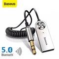 Baseus Bluetooth Auto Audio Kabel 5,0 Sender Drahtlose Empfänger Auto AUX 3,5mm Jack Adapter Bluetooth Adapter Audio Kabel