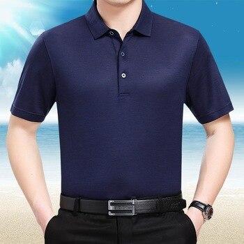 Summer 2020 100%Silk tShirt Men Short Sleeve Tshirt Casual Shirts Plus Size White T-shirt Camisetas T3-01H910/02H01/02H09 KJ1957