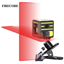 FIRECORE 2 lines laser level self levelling horizontal and vertical cross line mini red green laser with clip