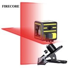 FIRECORE 2 линии лазерный уровень самонивелирующийся горизонтальный и вертикальный Крест мини красный зеленый лазер с зажимом