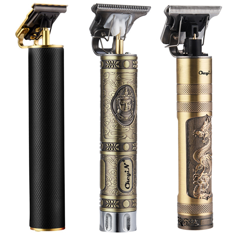 USB Rechargeable Powerful Clipper Beard Electric Hairdresser Razor Barbershop Cordless Close to 0mm T Head Men Haircut Tools