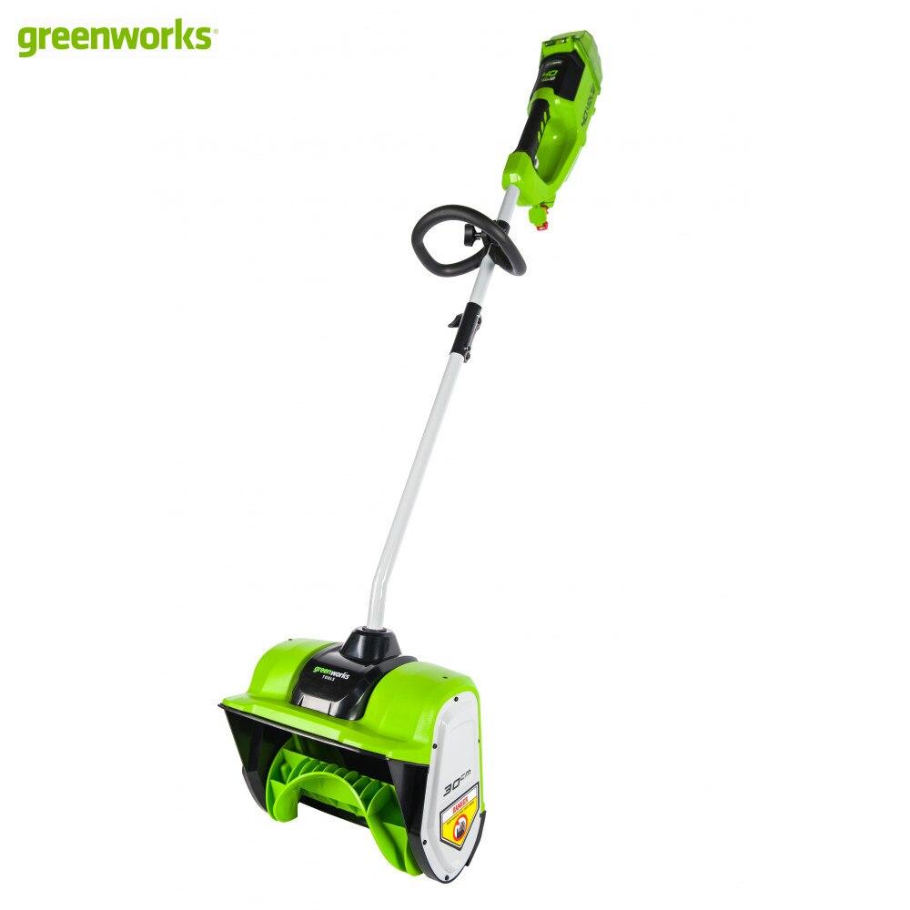 Снегоуборщик аккумуляторный Greenworks GD40SSK2, 40V, 30 см, бесщеточный, с 1хАКБ 2 А.ч и ЗУ| |   | АлиЭкспресс