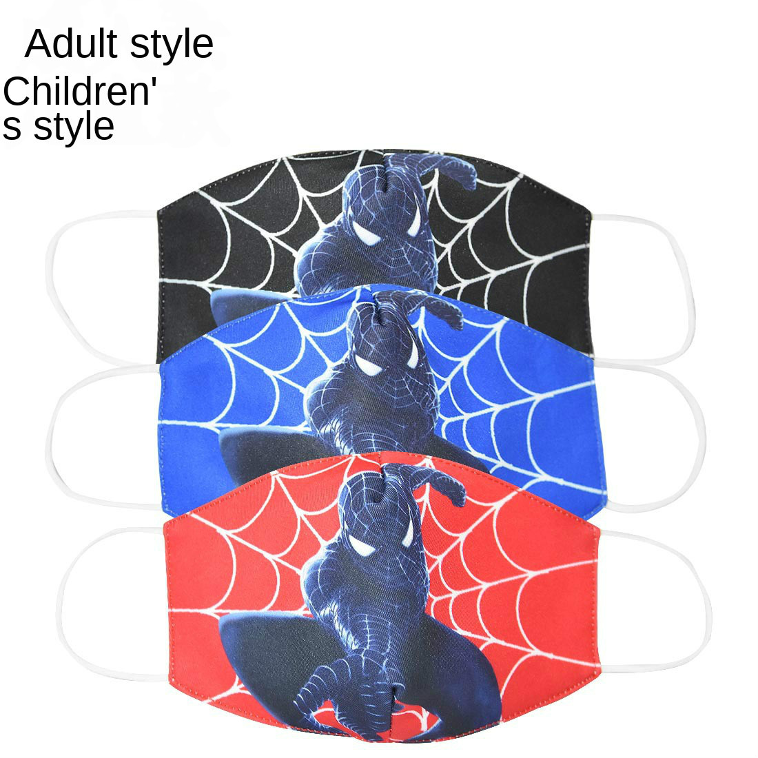 2020 Spiderman Half Muffle Face Mask Adult Kids Cottons Dustproof Cartoon Woman Men Mouth Masks Mouth For Birthday Gift