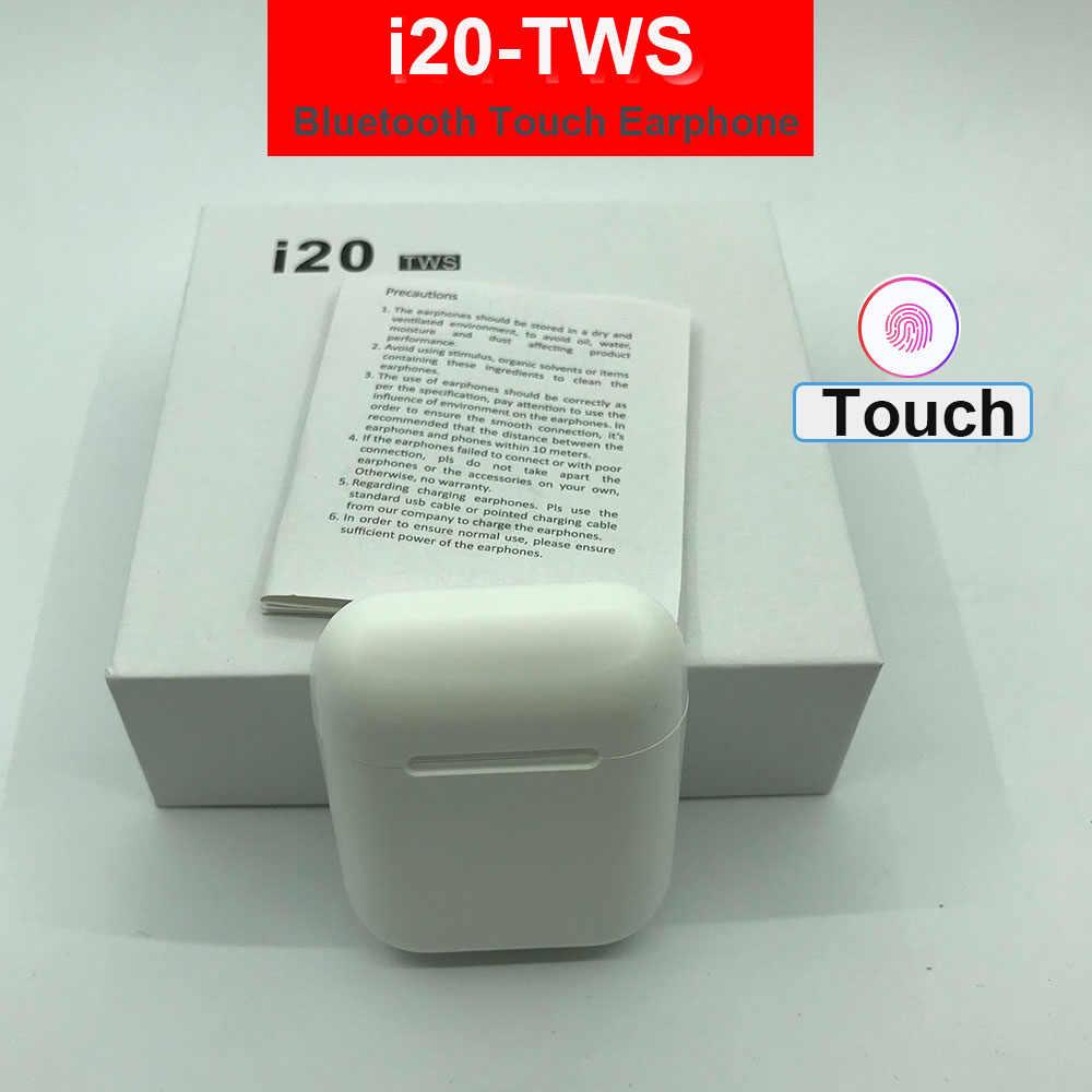سماعات بلوتوث لاسلكية i20 TWS سماعات 5.0 i14 i11 i7s tws 6D باس سماعات لاسلكية pk i10 tws i30 i12 i80 tws i100