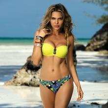 € 7,18 – 9,11 Sexy Bikini bañador mujer Push Up traje de baño de vendaje Halter #Bikini 2020