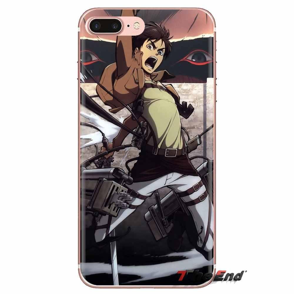 Anime aanval op titan Levi Voor LG Geest Motorola Moto X4 E4 E5 G5 G5S G6 Z Z2 Z3 G2 g3 C Play Plus Mini Transparante TPU Behuizing