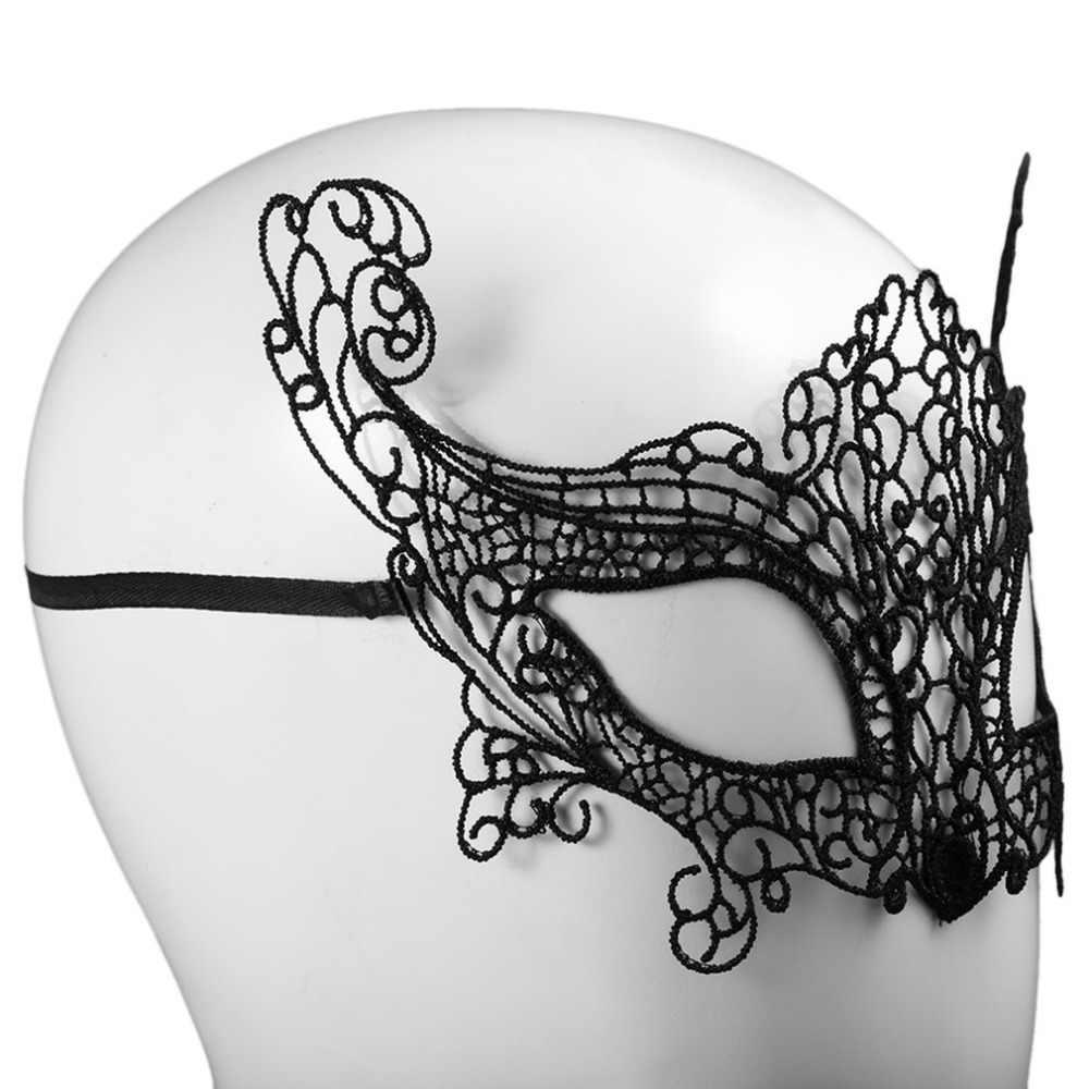 1pcs סקסי נשים שועל/פרפר/littel כתר/elves מסיבת פנים איפור מסכת תחרה סגנון Masquerade מסכה תלבושות המפלגה סקסי קישוט