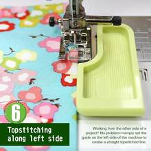 Sewing Seam Guide Positioning Plate Multi Functional Interlock Guide Grid Measure Keeper Template Sewing Machine Accessories