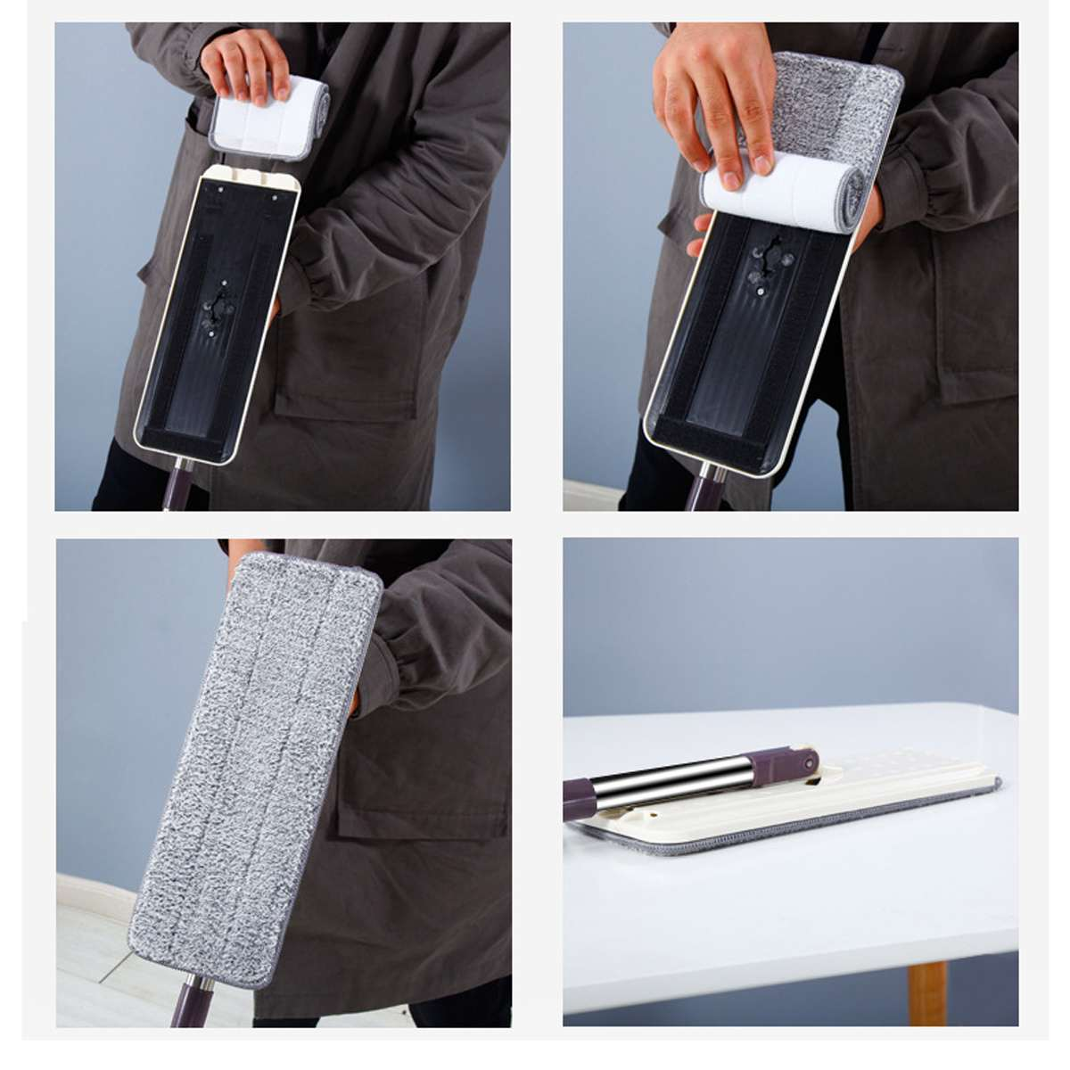 Multi-functional Hands-free Self-Washing Mop