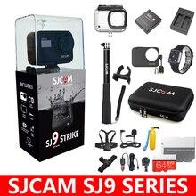 기존 sjcam sj9 시리즈 sj9 스트라이크 sj9 맥스 자이로 바디 방수 4 k 액션 카메라 라이브 스트리밍 2.4g 와이파이 스포츠 dv
