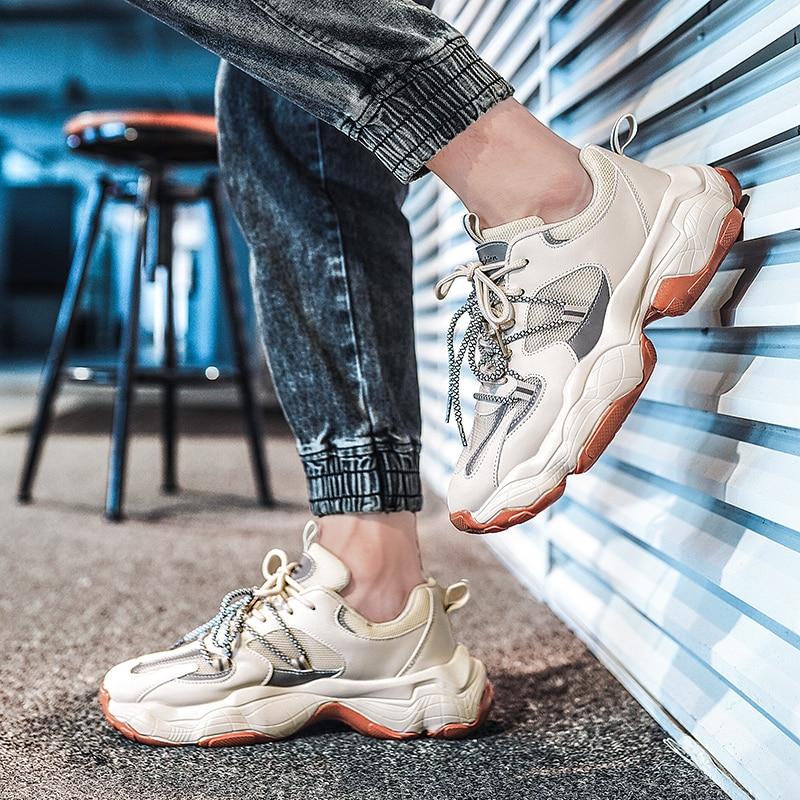 Новое поступление, спортивные туфли мужские туфли из натуральной кожи на плоской подошве для мужчин; Спортивные туфли мужские кроссовки мо...