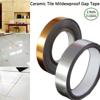 200Rolls Ceramic Tile Mildewproof Gap Tape Decor Gold Silver Black Self Adhesive Wall Floor Tape Sticker For Home Wall Decor