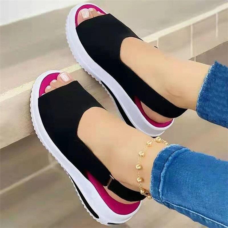 Brkwlyz 2021 nova mulher sandálias de costura macia sandálias confortáveis sandálias planas mulheres dedo do pé aberto sapatos de praia mulher calçado 5