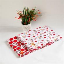 Cotton apple printing fabric cartoon fruit pattern handmade DIY clothing hug pillowcase sheet accessories fabric