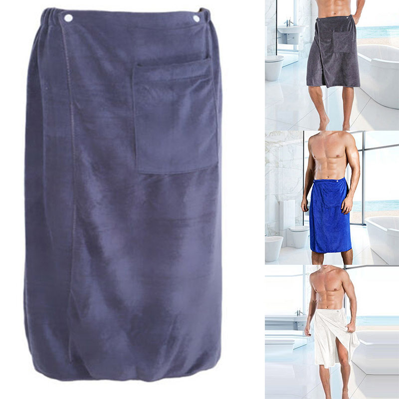 Newly Mens Adjustable Microfiber Shower Towel For Saunas College Dorms Pools Gyms Beaches Locker Rooms Bathroom FIF66