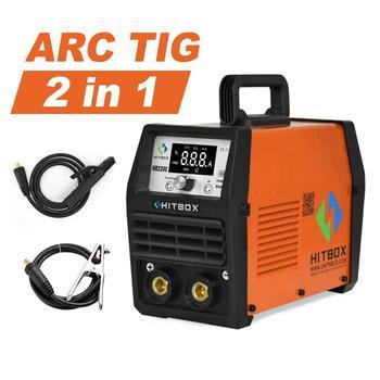 Soldador HITBOX Arc Tig MMA 4,0mm 7018 varillas máquina de soldadura HB2200 soldador inversor Digital para principiantes 220V función 200A soldadores