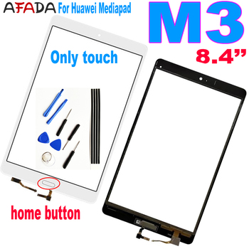 tempered glass for huawei mediapad m5 lite 8 0 8 4 10 10 1 10 8 btv w09 btv dl09 cmr al09 cmr w09 curved edge screen protector 8.4 For Huawei Mediapad M3 BTV-DL09 BTV-W09 Touch Screen Glass Digitizer Panel Front Glass with Home Button
