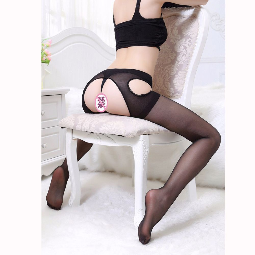 Women Sexy Open Crotch Pantyhose Women Ultra-thin  Semitransparent Design Pantyhose Intimates Medias Sexy Costumes