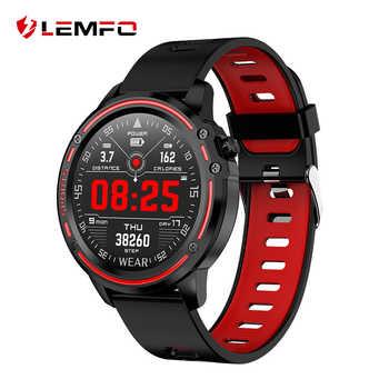 LEMFO L8 PPG + EKG Volle Runde Display Smart Uhr Männer IP68 Wasserdicht Professionelle Sport Smartwatch Batterie Lebensdauer Lange Standby