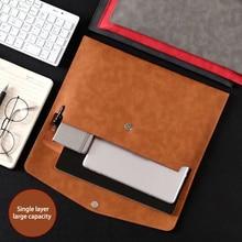 A4 PU Leather Business File Folder Large-capacity Organizer Storage Information Bag Envelope HandBag Office Stationery Accessor