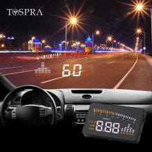 Hud Car Universal Head Up Display velocímetro TEMPERATURA AGUA velocidad de proyección advertencia combustible en el parabrisas para el coche Hud(China)