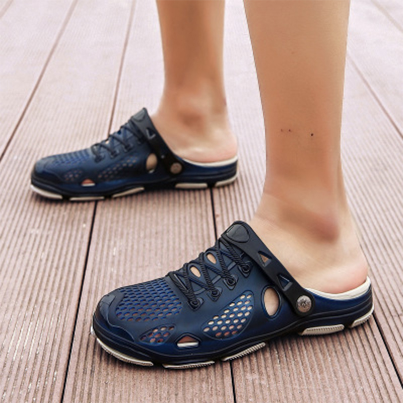 2020 Gentlemen Sandals Men Summer Lace Up Slippers Footwear Outdoor Beach Casual Shoes Cheap Male Water Shoes Plus Size 35-45