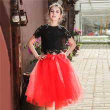 5 Layers 65cm Midi Tulle Skirt Princess Pleated Dance Tutu Skirts Womens Lolita Petticoat Jupe Saia faldas Denim Party Skirts(China)
