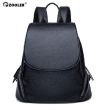 ZOOLER Brand woman leather backpack elegant black bag girls school large capacity women bags travel bolso mujer #LT219