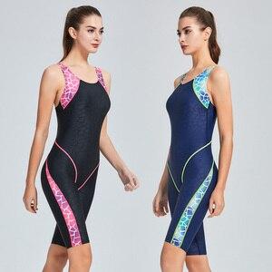 Image 5 - Riseado nowy Sport jednoczęściowy strój kąpielowy Patchwork konkurencyjne stroje kąpielowe kobiety Racer powrót strój kąpielowy 2020 Boyleg pływanie body