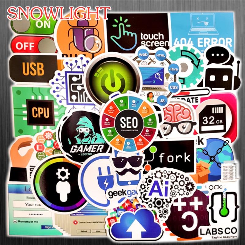 "JAVA Creative Laptop Phone Luggage Decal 2.5/"" 50PCS Stickers Pack Program C+"