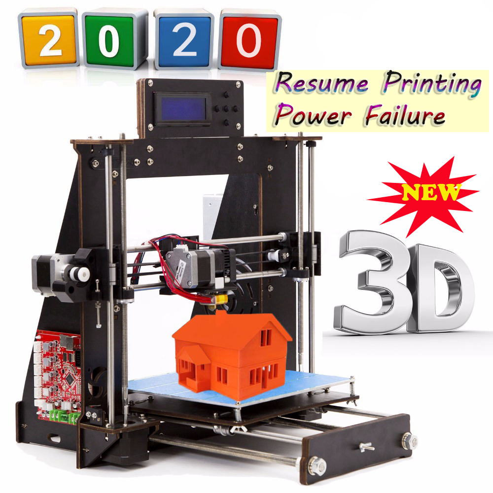3D Printer Prusa i3 Reprap MK8 MK2A LCD Screen Imprimante impresora 3d Drucker Power Failure Resume Printing