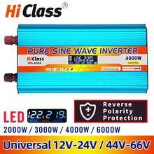 Inverter 12v 220v 12V/24V Rein sinus solar power inverter 2000W/3000W/4000W/6000W Dc 12v bis Ac 220v Auto inverter LCD Display