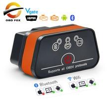 Vgate ICar2 ELM327 Wifi OBD2 Diagnostic Tool Voor Ios/Android/Pc Icar 2 Bluetooth Wifi Elm 327 Obdii code Reader Scanner