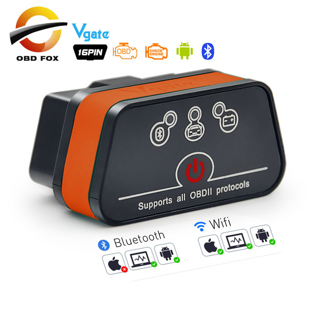 أداة تشخيص السيارة Vgate iCar2 ELM327 ، قارئ رمز OBD2 ، Wifi ، Bluetooth ، wi fi ، لنظام IOS /Android/PC ، icar 2 ، ELM 327 OBDII