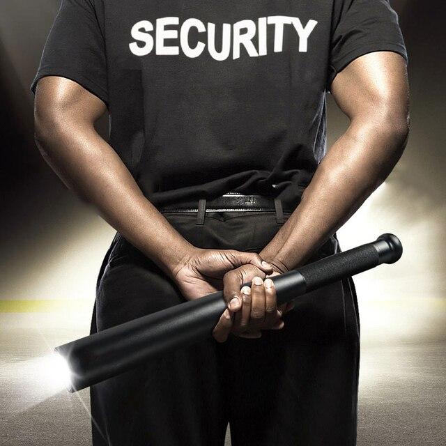 Outdoor Emergency Personal Defense Supplies Self Defense Baseball Bat Led Flashlight Stick 5