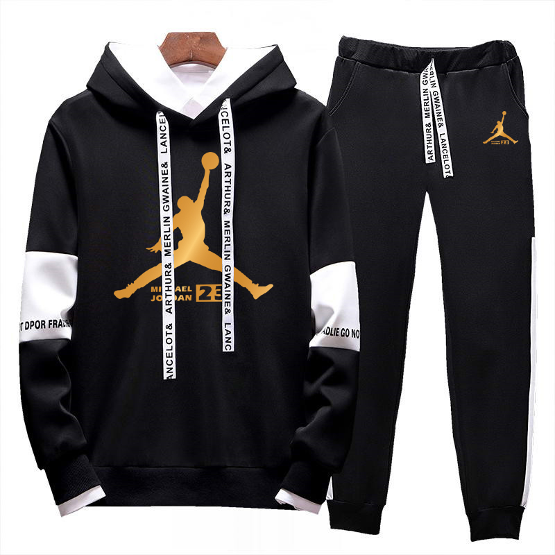 2020 New Men's Suit Hooded Track Suit Suit 2 Piece Suit Hoodie + Trousers Spring Casual Comfortable Clothing Fashion Brand Suit
