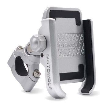 360 Degree Universal Bike Aluminum Alloy Motorcycle Motorbike Handlebar Phone Holder Stand Mount For iPhone Xiaomi Samsung 4-6.4