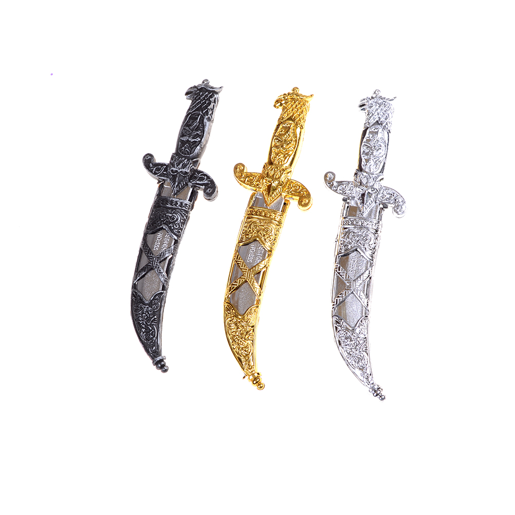1Pc Newest Plastic Swords 7-B Party Supplies Halloween Toy Sword Small Weapons Phoenix Knife Toy Pirates Dagger For Kids 22*6 Cm