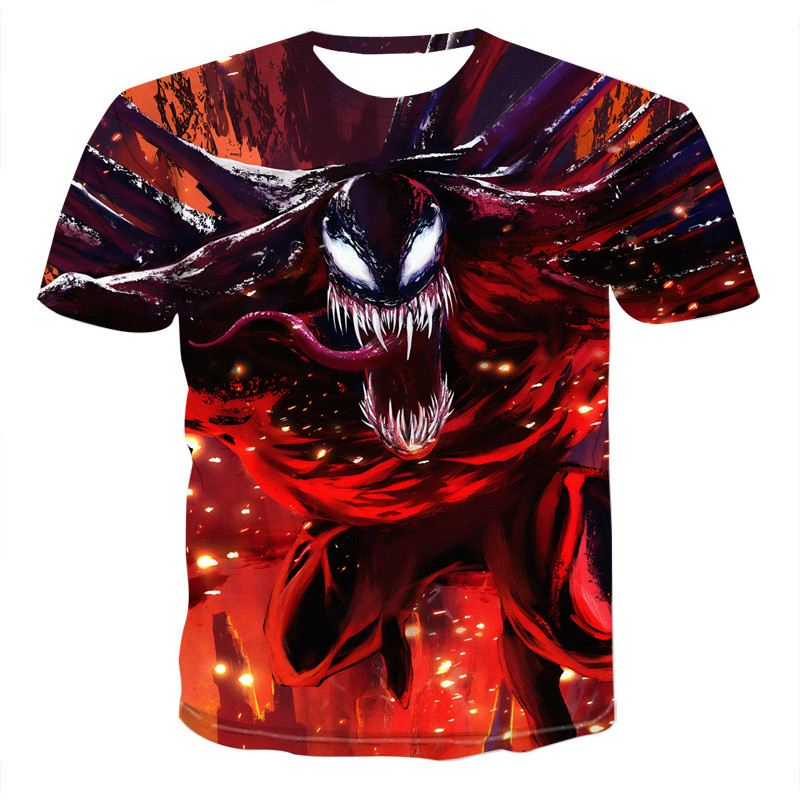 2020 T Shirt Men Newest Venom Marvel T-shirt 3D Printed T-shirts Men Women Casual Shirt Fitness T Shirt Tees Tops