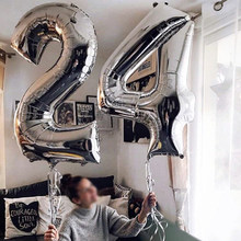 40 inch Big Foil Birthday Balloons Air Helium Number Balloon Figures Happy Birthday Party Decoration Kid Baloons Birthday Balony