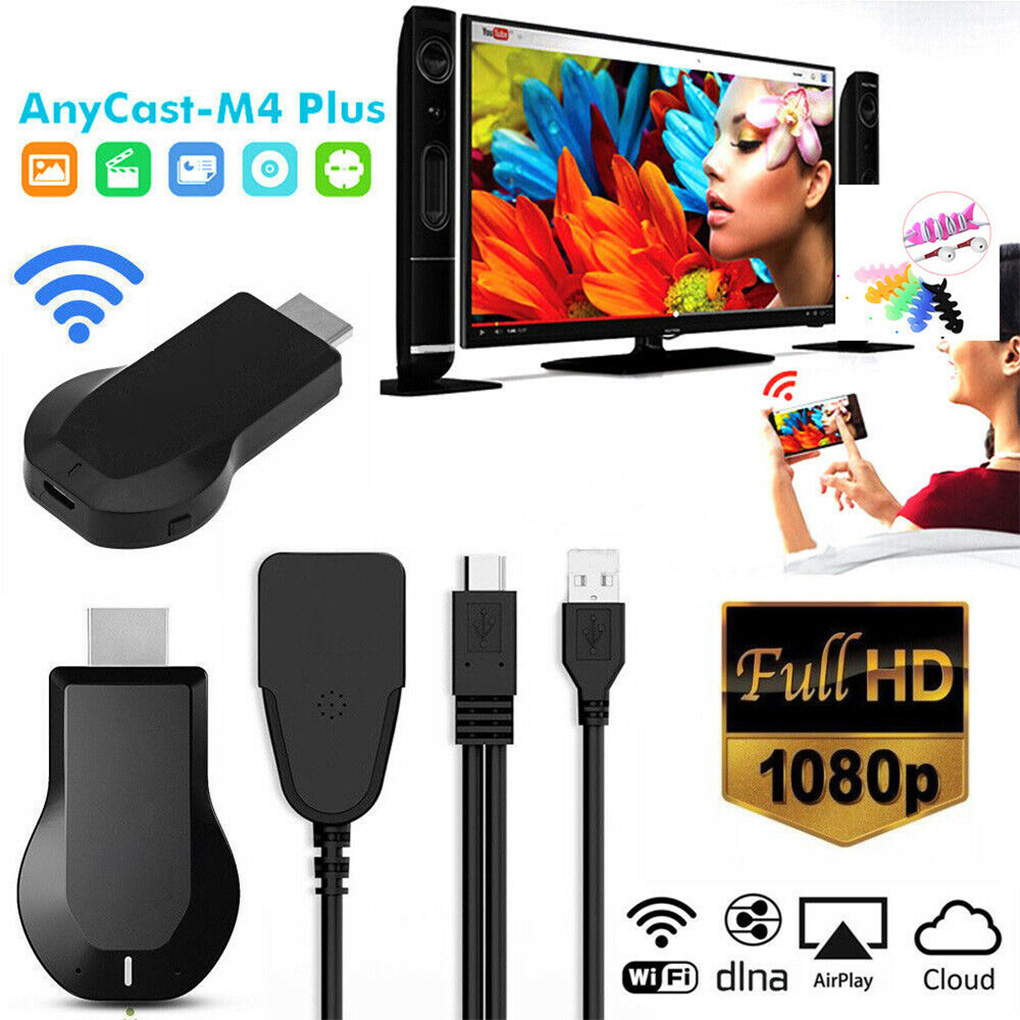 Anycast M4 PLUS 1080P Wireless HD Portable Media Player Streamer Wifi Display Dongle for Projector Smartphone Tablets