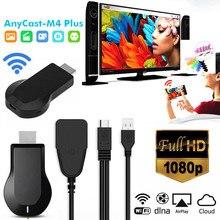 Anycast m4 plus 1080p hd leitor de mídia portátil sem fio streamer wifi display dongle para projetor smartphones comprimidos