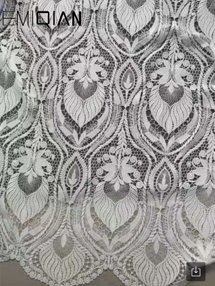 High Quality Lace Fabrics .Embroidered Cord Lace For Wedding Dress .New Arrival Guipure Lace Fabric