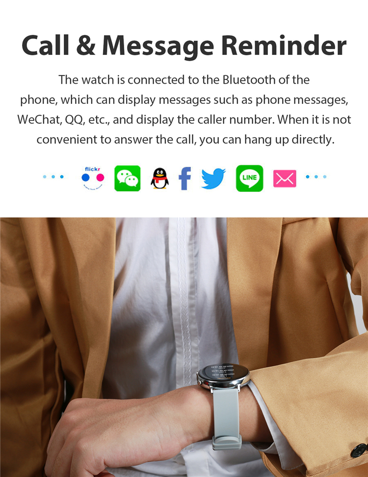 Smartwatch chamada bluetooth relógio inteligente à prova