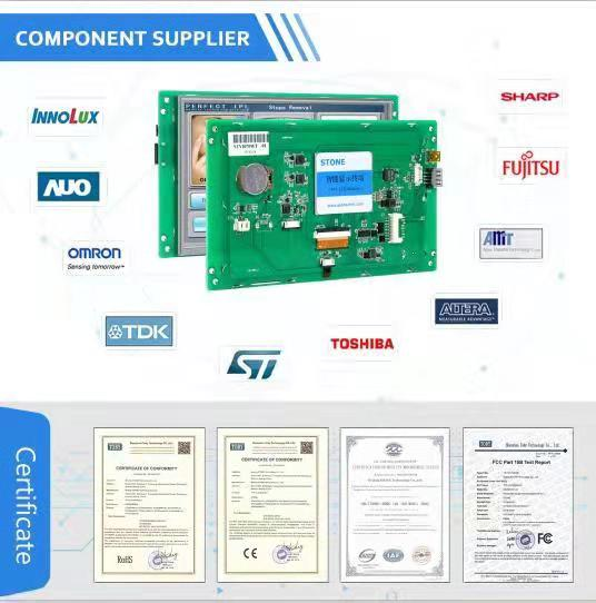 7 inch HMI  LCD Monitor with Touch Screen + Control Board + Serial Port + Program for Industrial Control